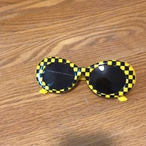 Yellow and black sunglasses